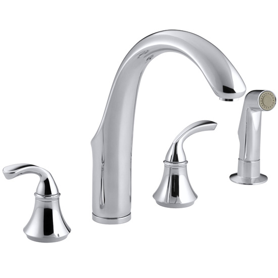 Kohler K-10445-CP Forte Widespread Kitchen Faucet - Polished Chrome