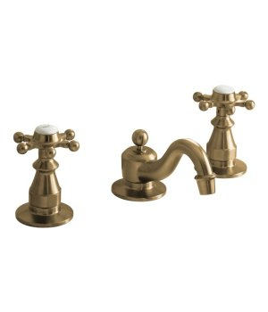 Kohler K-108-3-BV Antique Widespread Lavatory Faucet with 6 Prong Handles - Vibrant Brushed Bronze