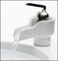 K-11000-0 Kohler Bol Ceramic Faucet - White with Brush Nickel Handle