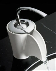 K-11010-96 Kohler Vas Ceramic Faucet Biscuit with Chrome Handle (shown in White)
