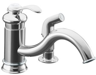 Kohler K-12176-CP Fairfax Single Handle Kitchen Faucet with Matching Side Spray - Chrome