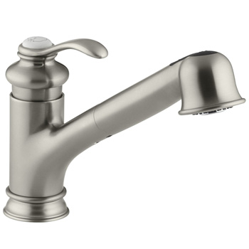 Kohler K-12177-BN Fairfax Pull Down Kitchen Faucet - Brushed Nickel