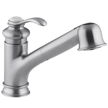 Kohler K-12177-G Fairfax Pull Out Kitchen Faucet - Brushed Chrome