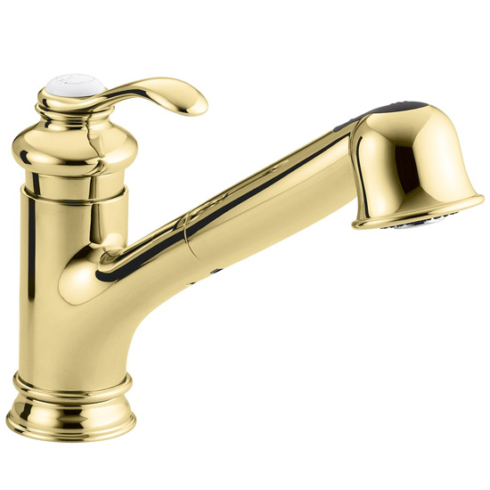 Kohler K-12177-PB Fairfax Pull Down Kitchen Faucet - Polished Brass
