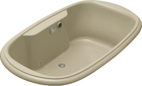 K-1375-GCR-0 Kohler Revival 6' BubbleMassage Bath with Chromatherapy in White (Pictured in Mexican Sand)