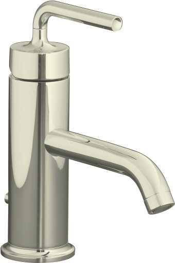 K-14402-4A-SN Kohler Purist Single Control Lavatory Faucet with Straight Lever Handle - Polished Nickel
