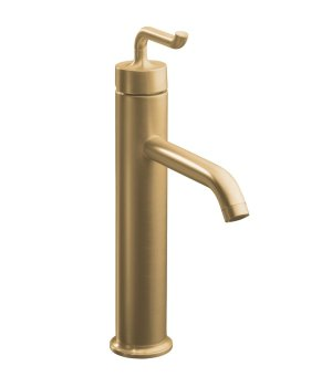 K-14404-4-BV Kohler Purist Single Control Tall Lavatory Faucet with Smile Design Lever Handle - Vibrant Brushed Bronze