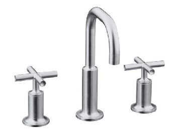 Kohler K 14406 3 CP Purist Widespread Lavatory Faucet   Polished Chrome