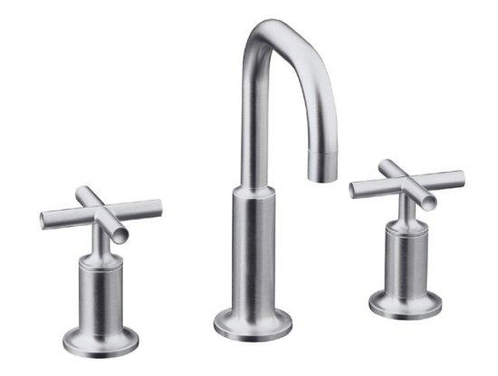 Kohler K-14406-3-CP Purist Widespread Lavatory Faucet - Polished ...
