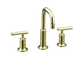 Kohler K-14406-4-AF Purist Widespread Lavatory Faucet - French Gold