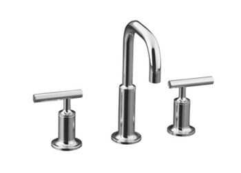 Kohler K-14406-4-CP Purist Widespread Lavatory Faucet - Polished Chrome