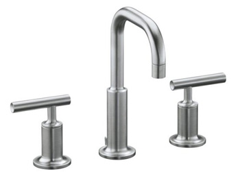 Kohler K-14406-4-G Purist Widespread Lavatory Faucet - Brushed Chrome