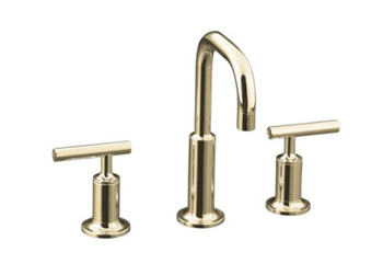 Kohler K-14406-4-SN Purist Widespread Lavatory Faucet - Polished Nickel