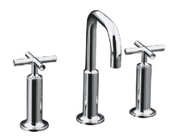 Kohler K-14407-3-CP Purist Widespread Lavatory Faucet - Polished Chrome