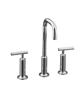 Kohler K-14408-4-CP Purist Widespread Lavatory Faucet - Polished Chrome