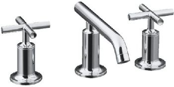 Kohler K-14410-3-CP Purist Widespread Lavatory Faucet - Polished Chrome