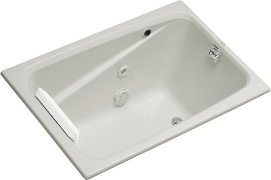 K-1492-H2-0 Kohler Greek Drop-In Whirlpool Bath - White