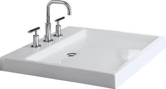 2314-0 Kohler Purist Wading Basin Lavatory - White - FaucetDepot.com