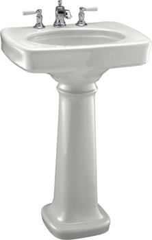 Kohler K 2338 4 0 Bancroft 24 Pedestal Lavatory With 4 Centers White