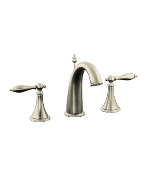 K-310-4M-BN Kohler Finial Traditional Widespread Lavatory Faucet - Brushed Nickel