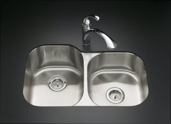 K-3150 Kohler Undertone Large/Medium Undermount Stainless Steel Kitchen Sink