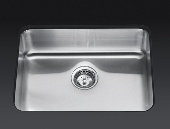 Kohler K 3325 Undertone Extra Large Square Single Bowl Undermount Stainless  Steel Kitchen Sink
