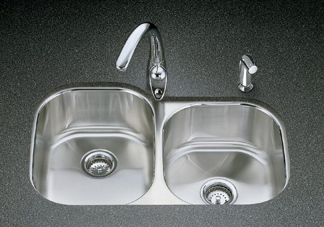 K-3354 Kohler Undertone+ Large/Medium Undercounter Kitchen Sink, Rounded Basin Style