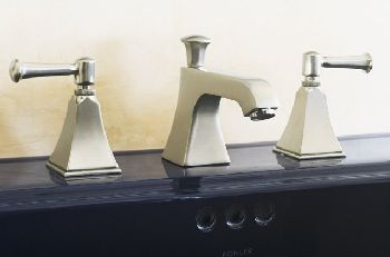 Kohler K-454-4S-G Memoirs+ Widespread Lavatory Faucet with Stately Design and Lever Handles - Brushed Chrome