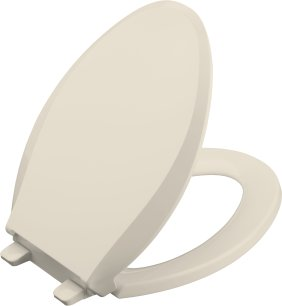 K-4636-47 Kohler Cachet Quiet-Close Quick Release Toilet Seat - Almond