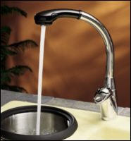 Kohler K-6340-BP ProAvatar Pull-Out Kitchen Faucet Chrome and Black