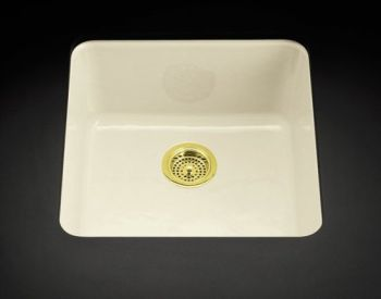 Kohler K-6587-96 Iron/Tones Self-Rimming or Undercounter Kitchen Sink - Biscuit
