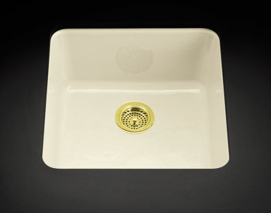Kohler K-6587-KA Iron/Tones Self-Rimming or Undercounter Kitchen Sink in Black N' Tan (Pictured in Biscuit)