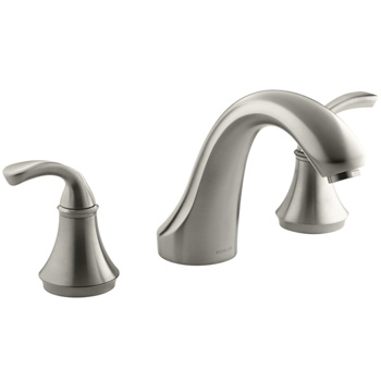 Kohler K-T10278-4-BN Forte Deck/Rim Mount High Flow Roman Tub Faucet Trim Only - Brushed Nickel