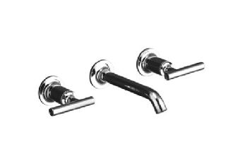 Kohler K-T14413-4 Purist Wall-Mount Lavatory Faucet Trim - Polished Nickel (Pictured in Polished Chrome)