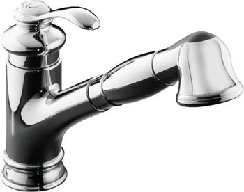 Kohler K-12177-CP Fairfax Pull Down Kitchen Faucet - Polished Chrome