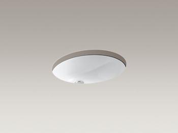 Kohler K-2210-0 Caxton Undercounter Lavatory Without Glazed Underside - White