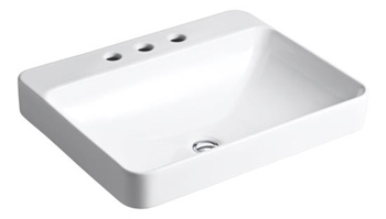 Kohler K-2660-8-0 Vox Rectangle Vessel Sink with 8