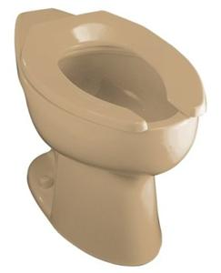 Kohler K-4301-33 Highcrest Elongated Toilet Bowl with Rear Spud, Less Seat, Mexican Sand