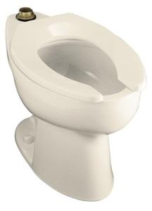 Kohler K-4302-47 Highcrest Elongated Toilet Bowl with Top Spud, Less Seat - Almond (Pictured in White)