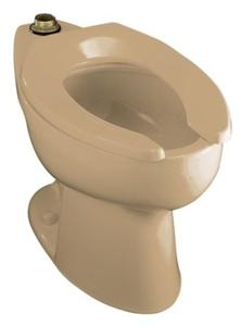 Kohler K-4302-33 Highcrest Elongated Toilet Bowl with Top Spud, Less Seat - Mexican Sand