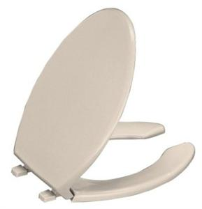 Kohler K-4650-G9 Lustra Elongated Open-Front Toilet Seat - Sandbar