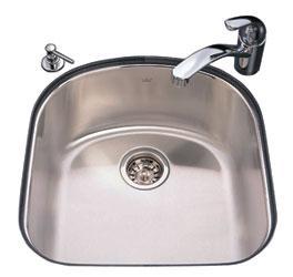 Kindred KSS4U/9 Single Bowl Undermount Kitchen Sink - Stainless Steel