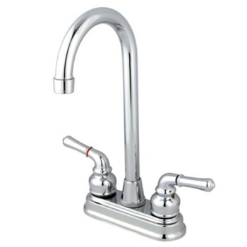 Kingston Brass KB491 Magellan 4-Inch Bar Faucet - Polished Chrome
