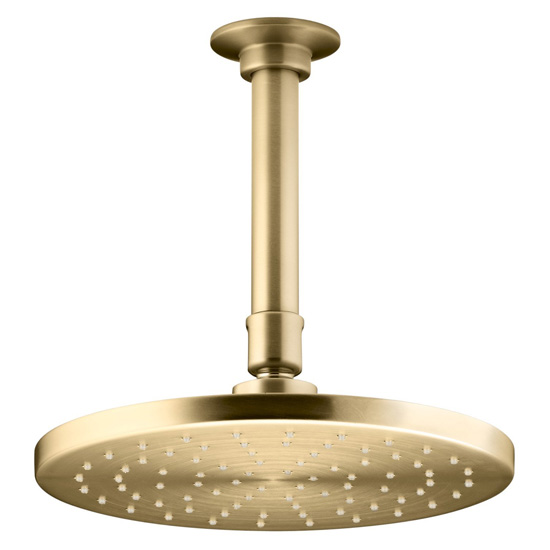 Kohler K-13688-BGD 8-Inch Contemporary Round Rain Showerhead - Brushed Gold