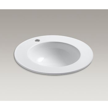 Kohler K-2282-0 Camber Drop-in Bathroom Sink with Single Faucet Hole - White