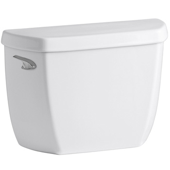 Kohler K-5307-0 Wellworth Classic 1.0 GPF Toilet Tank with Left-Hand Trip Lever - White