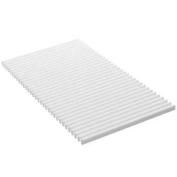 Kohler K-8619-0 Reset Flexible Ribbed Kitchen Sink Basin Mat - White