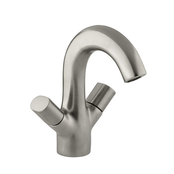 Kohler K-10085-9-BN Oblo Two-Handle Monoblock Lavatory Faucet - Vibrant Brushed Nickel