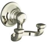 Kohler K-11414-SN Bancroft Double Robe Hook - Polished Nickel