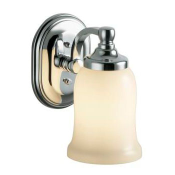 Kohler K-11421-SN Bancroft Single Light Wall Sconce - Vibrant Polished Nickel (Pictured in Polished Chrome)